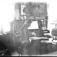 Målfrid Skard Birkeland, lærer på Jæren Folkehøgskule. Lærer: 1904-1911 på rommet sitt